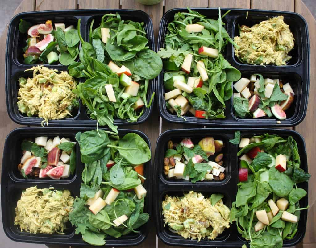 Lunchbox Series: Curry Chicken Salad with Apple & Fig Salad