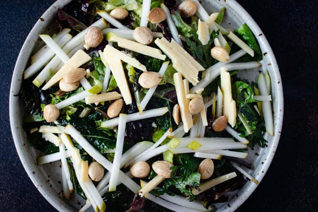White Cheddar & Pear Salad