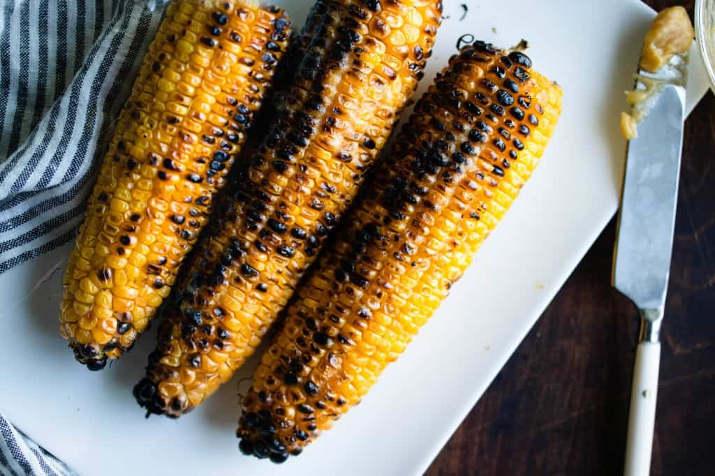 Grilled Miso Butter Corn