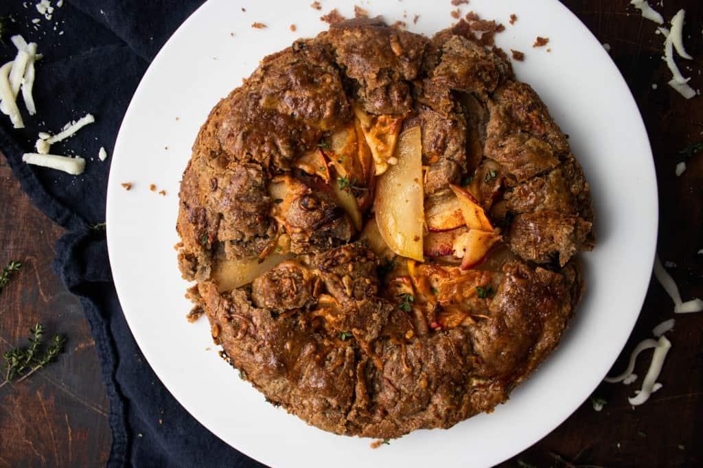 Apple & Cheddar Galette with Buckwheat Pie Crust