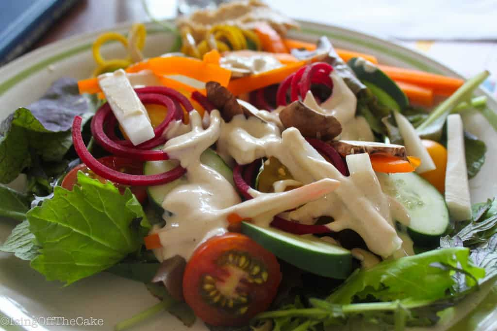Lemon-Tahini Salad with Cashew Pate