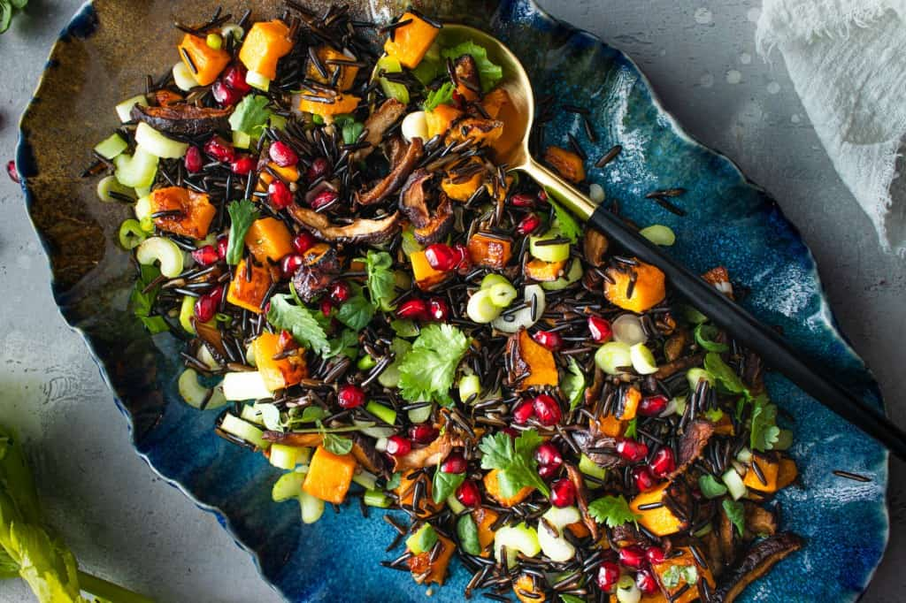 Pomegranate & Roasted Butternut Squash with Wild Rice