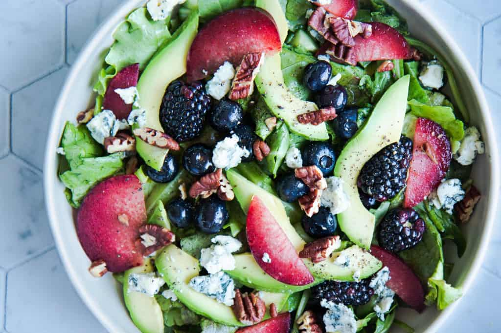 Pluot, Avocado, & Berry Monster Salad