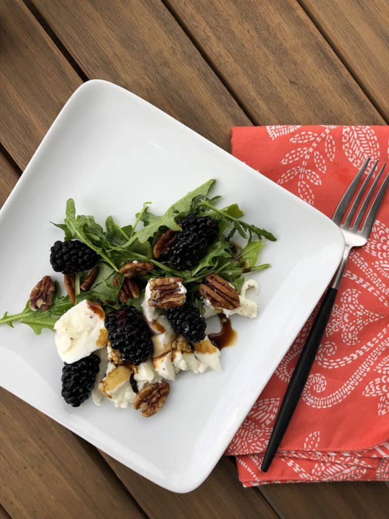 Summer Blackberry Burrata Salad with Balsamic Glaze