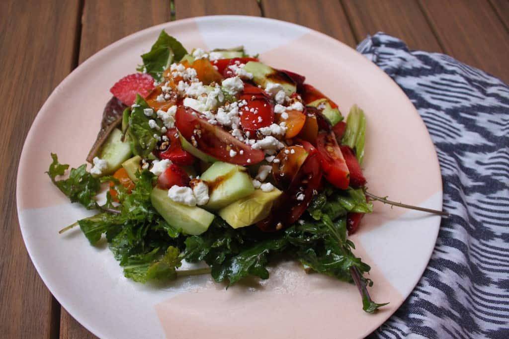 Lunchbox Series: Summer Bounty Salad with Balsamic Glaze