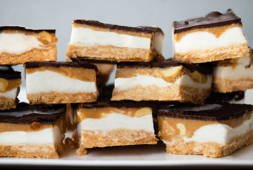 Ice Cream Peanut Butter Twix Bars