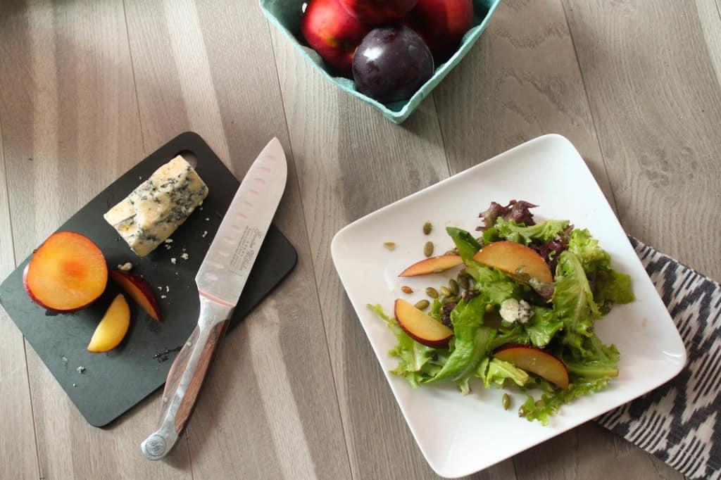Plum & Blue Cheese Salad with Pepitas
