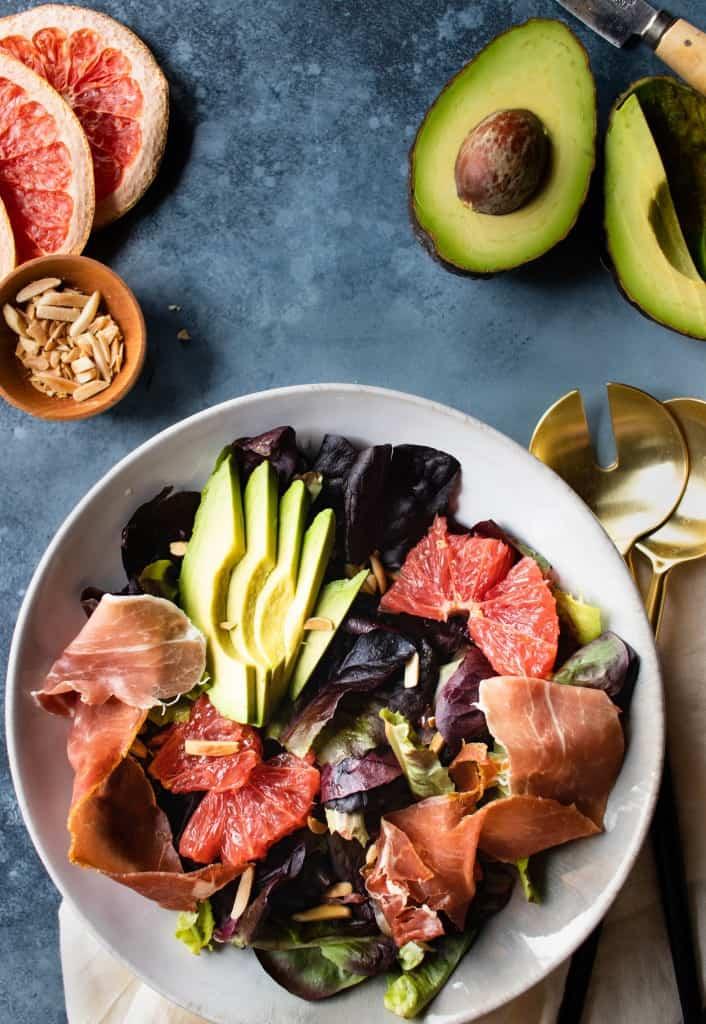 Avocado, Grapefruit & Prosciutto Salad