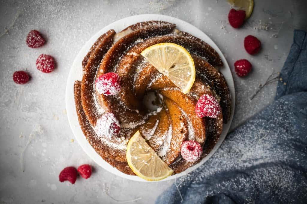 Lemon & Poppyseed Whole Grain Bundt Cake
