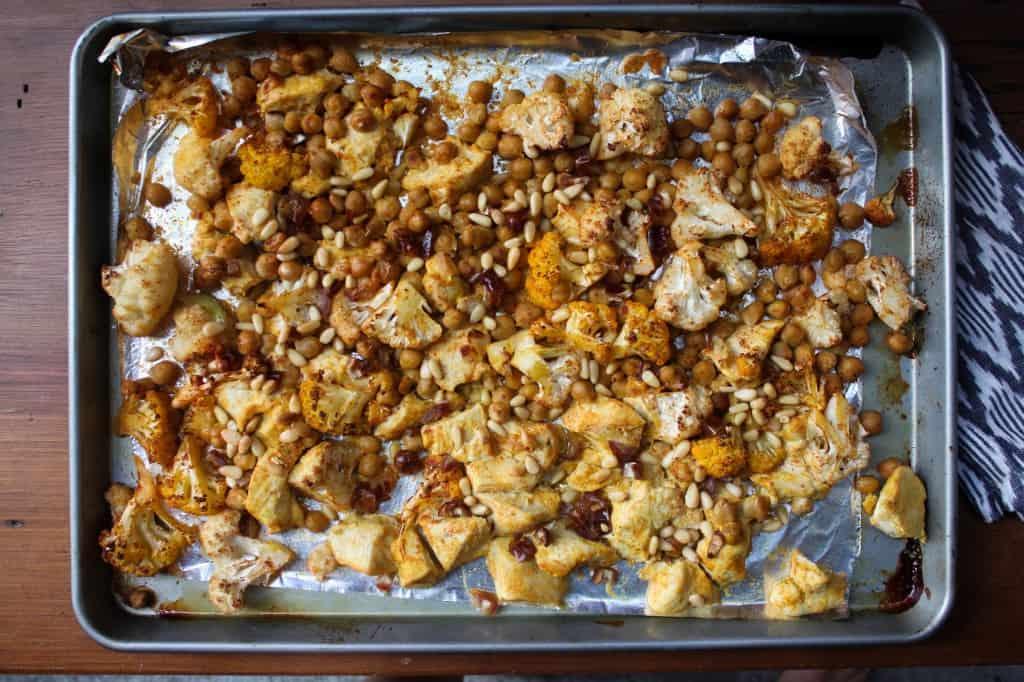 North African Chicken, Date, & Cauliflower One-Pan Dinner