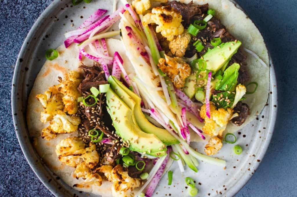 Hoisin Beef & Cauliflower Tacos