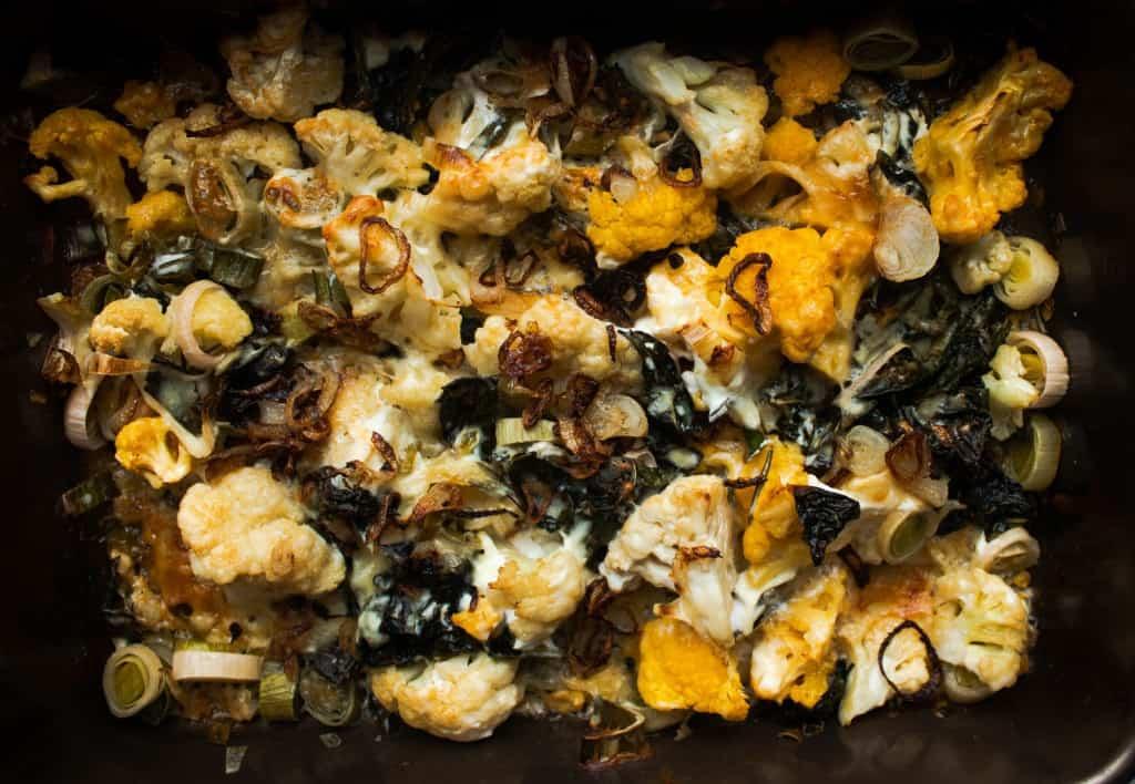 Super Cheesy Cauliflower Gratin