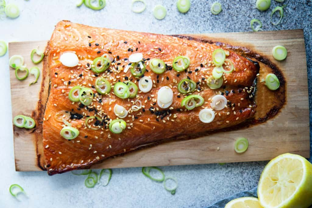 Ginger Scallion Cedar Plank Salmon & How to Cook Cedar Plank Salmon