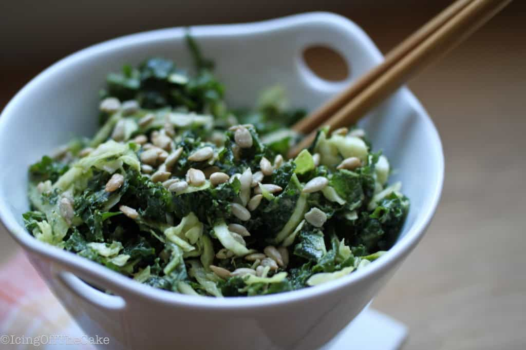 Creamy Kale and Cabbage Slaw