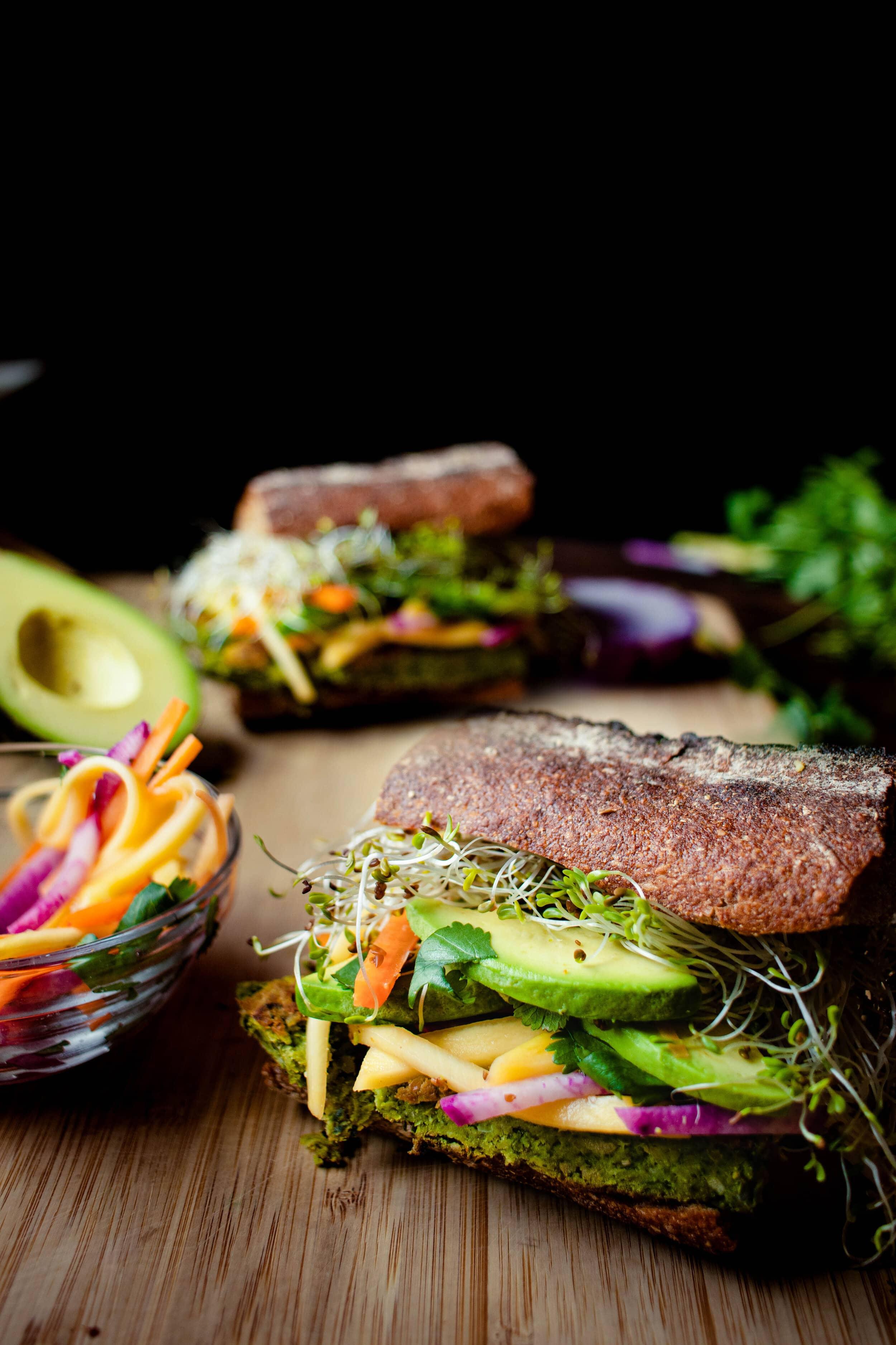 falafel sandwich with mango and radish-2.jpg