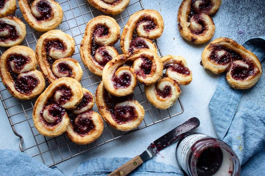 Cardamom & Berry Jam Palmiers