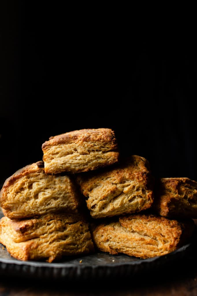 Whole Grain Miso Buttermilk Biscuits