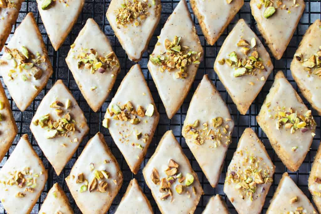 Brown Butter Pistachio Cardamom Sables