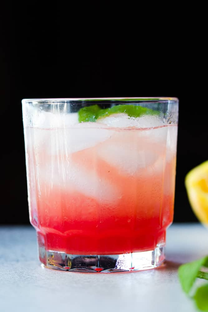 Honey Rhubarb Lemonade Spritzer