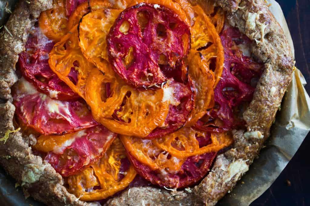 Spelt & Rye Tomato Parmesan Galette
