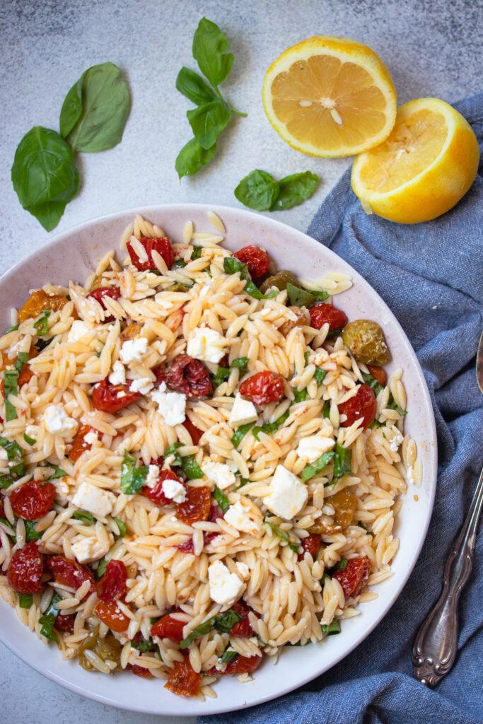 Roasted Tomato & Feta Orzo Salad