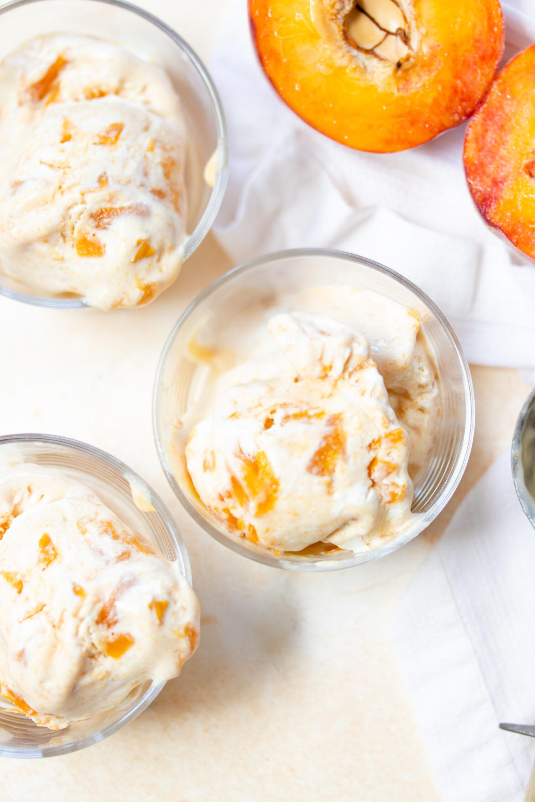 no churn peach ice cream