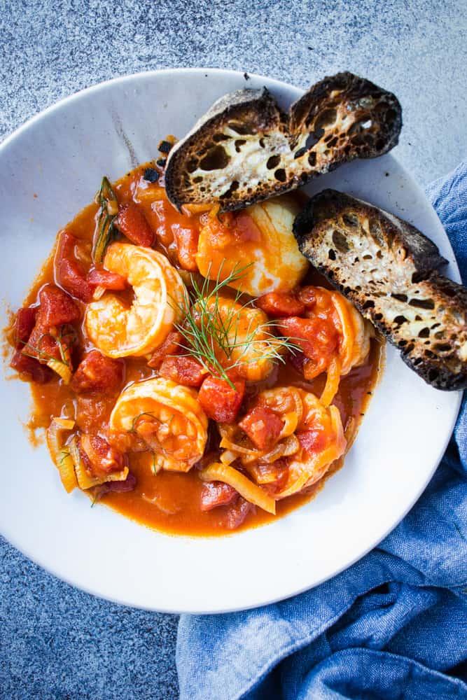 Weeknight Shrimp Cioppino-ish Stew