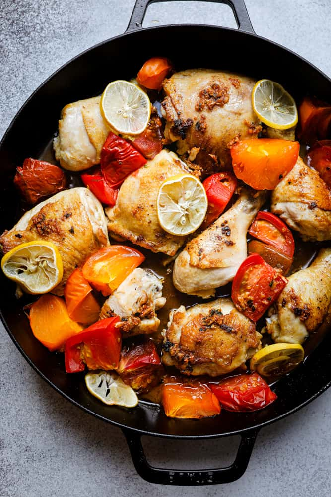 One-Pot Roasted Paprika Chicken & Heirloom Tomatoes
