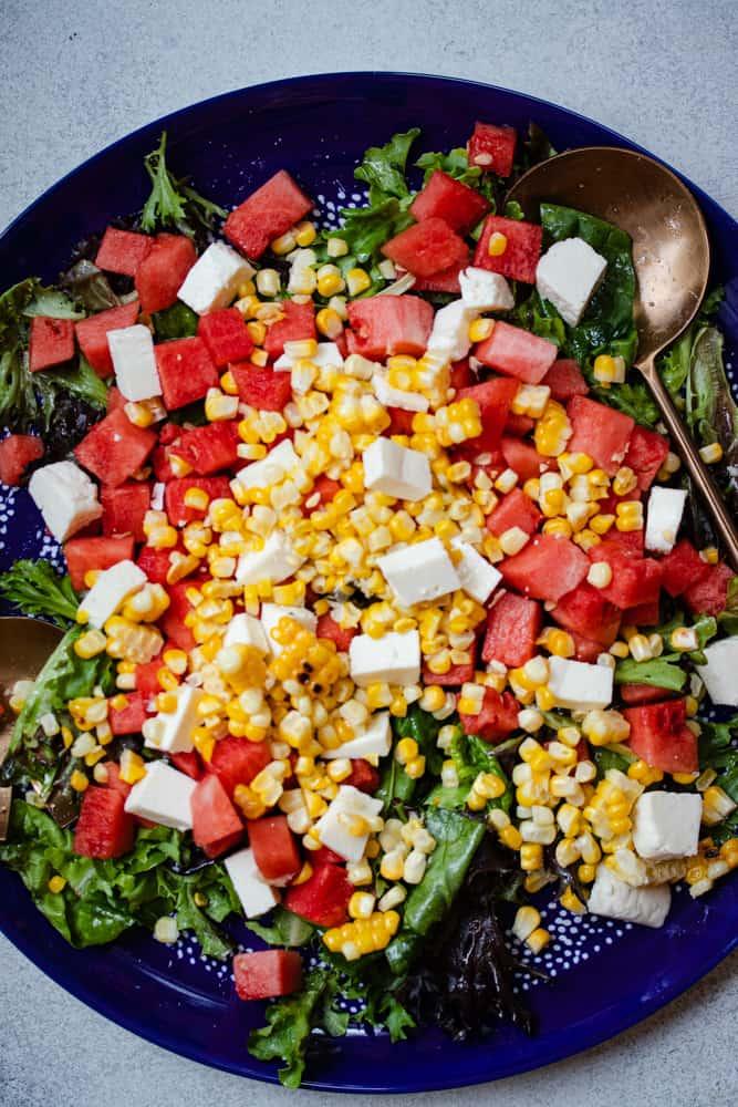 Watermelon, Corn & Queso Fresco Salad