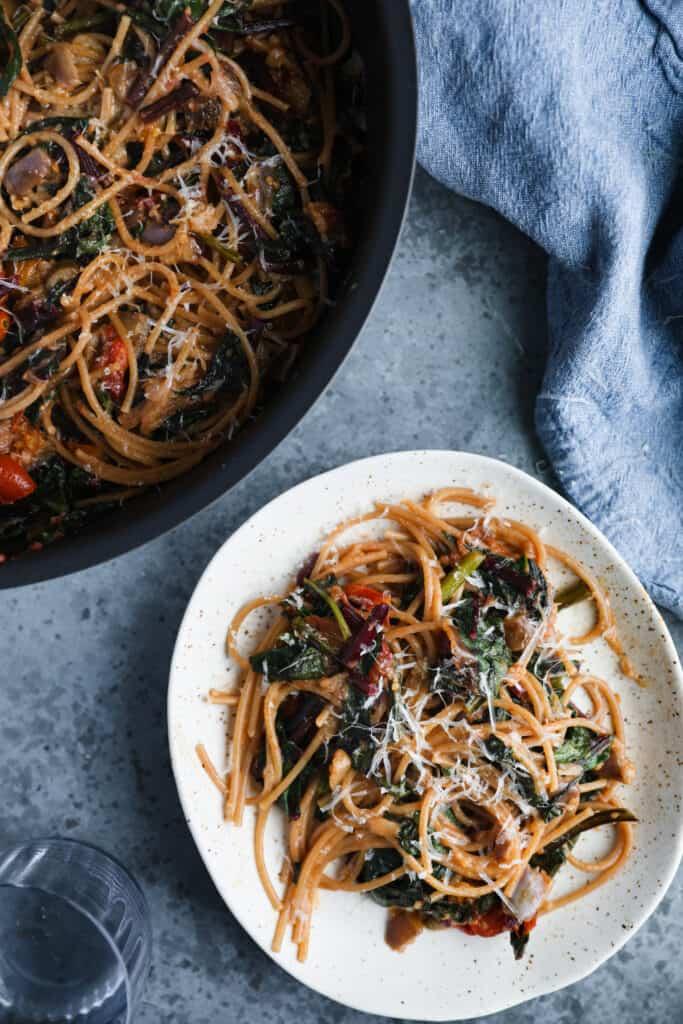 Late Summer Tomato & Eggplant Linguine